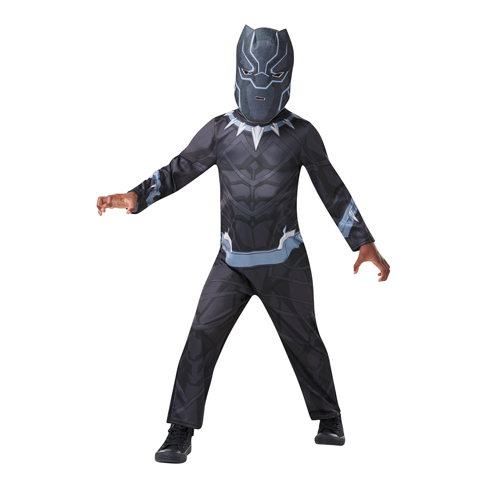 Black Panther Barn Maskeraddräkt - Small