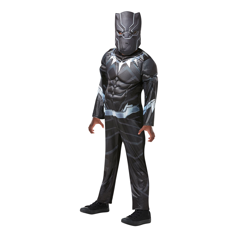 Black Panther Deluxe Barn Maskeraddräkt - Medium