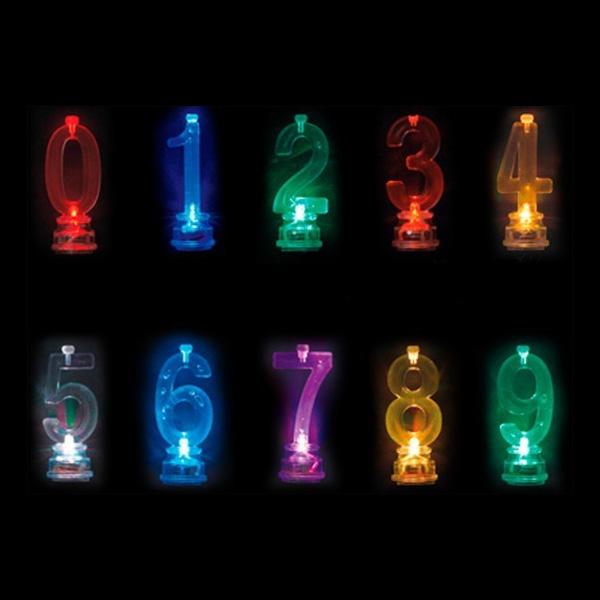 Blinkande Ljushållare - Siffra 5