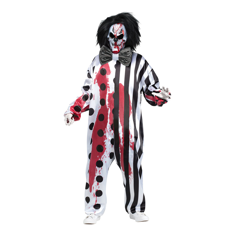 Blödande Clown Maskeraddräkt - One size
