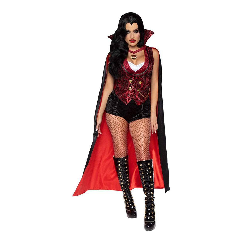 Blodtörstig Vampyr Dam Deluxe Maskeraddräkt - Small