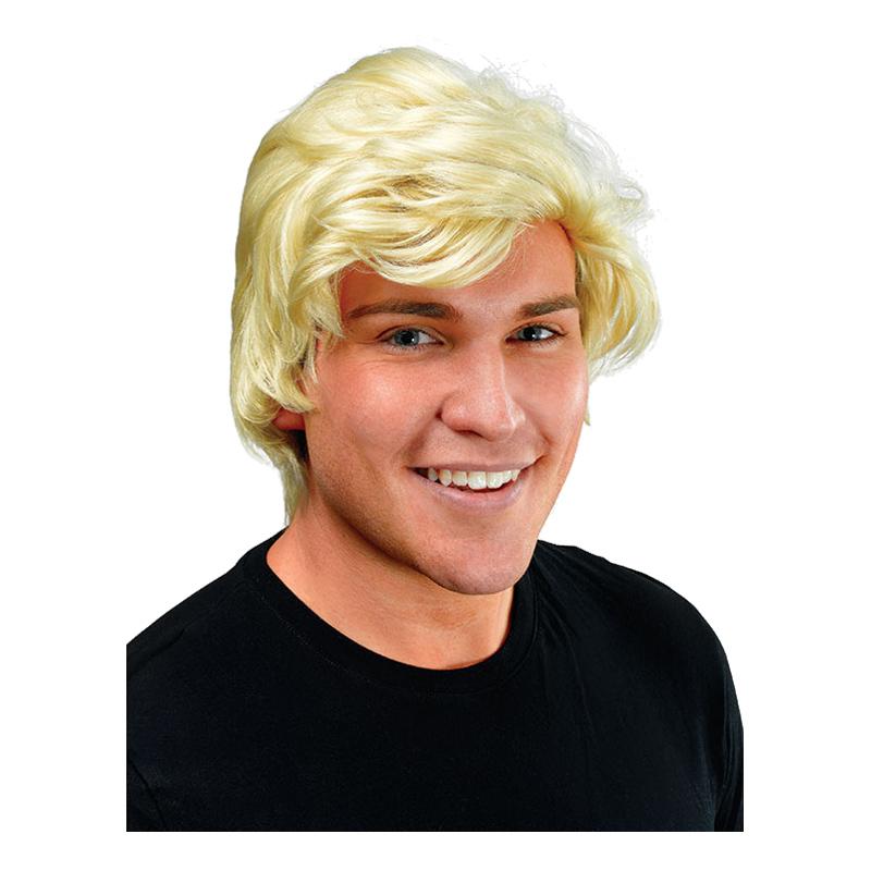 Blond Herrperuk med Sidbena - One size