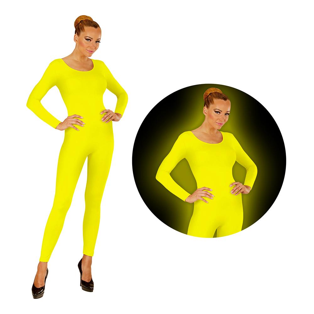 Bodysuit UV Neon Gul - X-Large