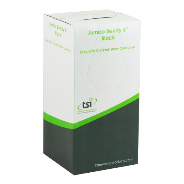 Böjbara Sugrör Svarta - 250-pack