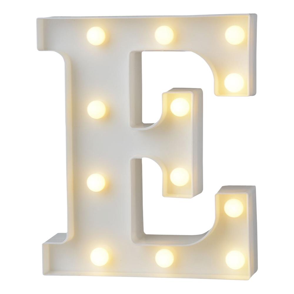 Bokstav med LED-Belysning - Bokstav E