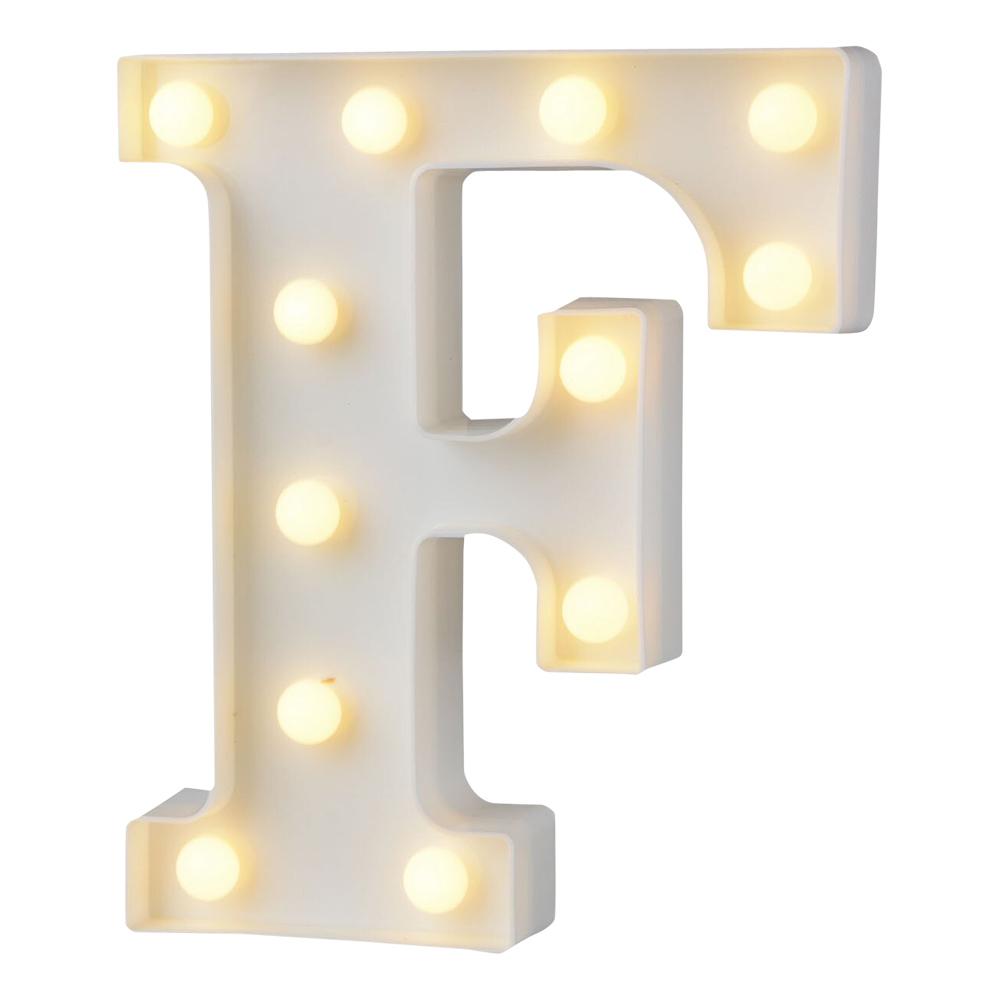 Bokstav med LED-Belysning - Bokstav F