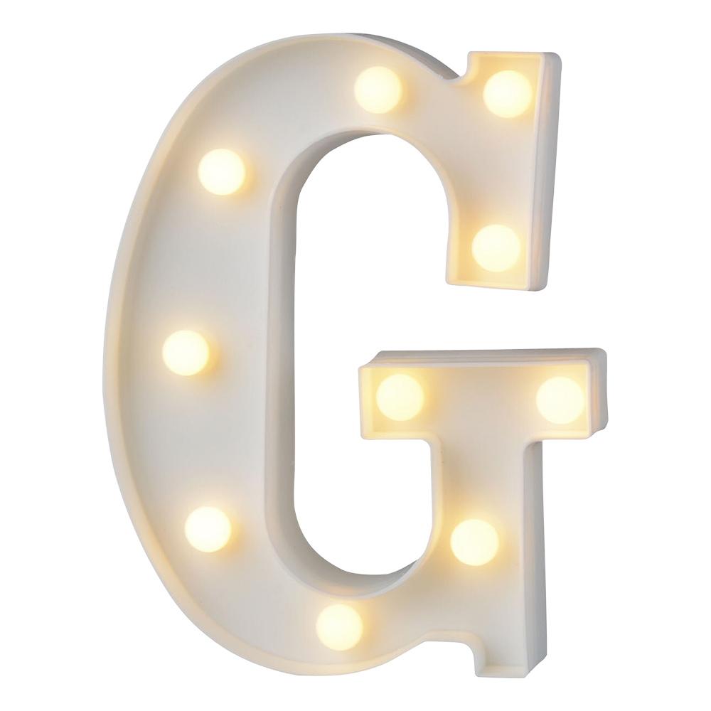 Bokstav med LED-Belysning - Bokstav G