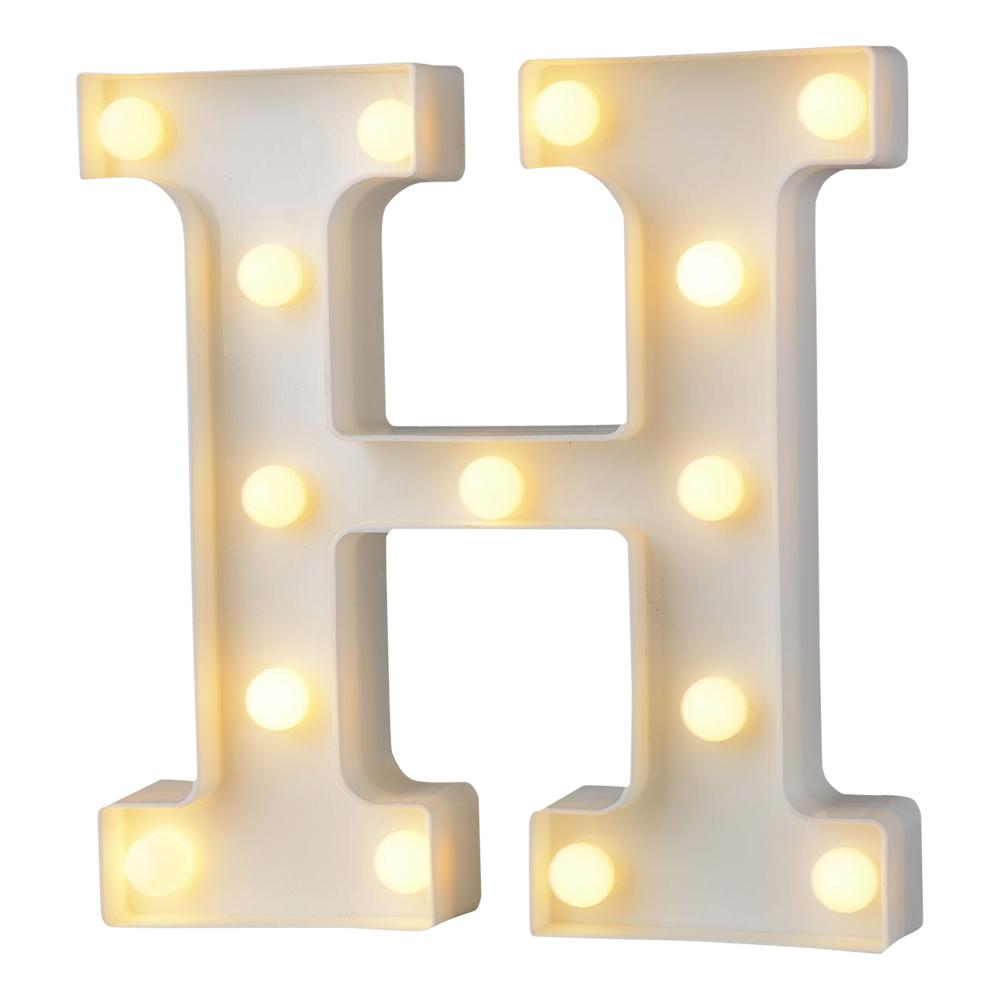Bokstav med LED-Belysning - Bokstav H