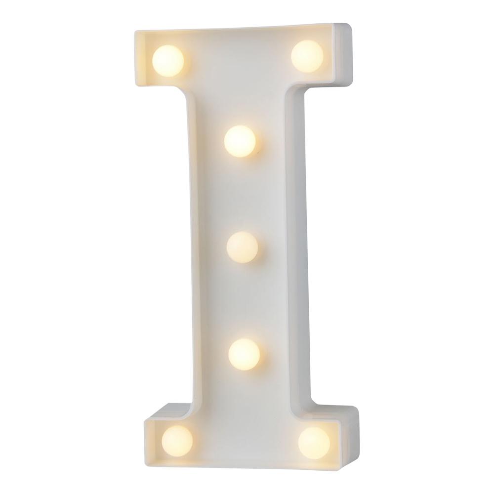 Bokstav med LED-Belysning - Bokstav I