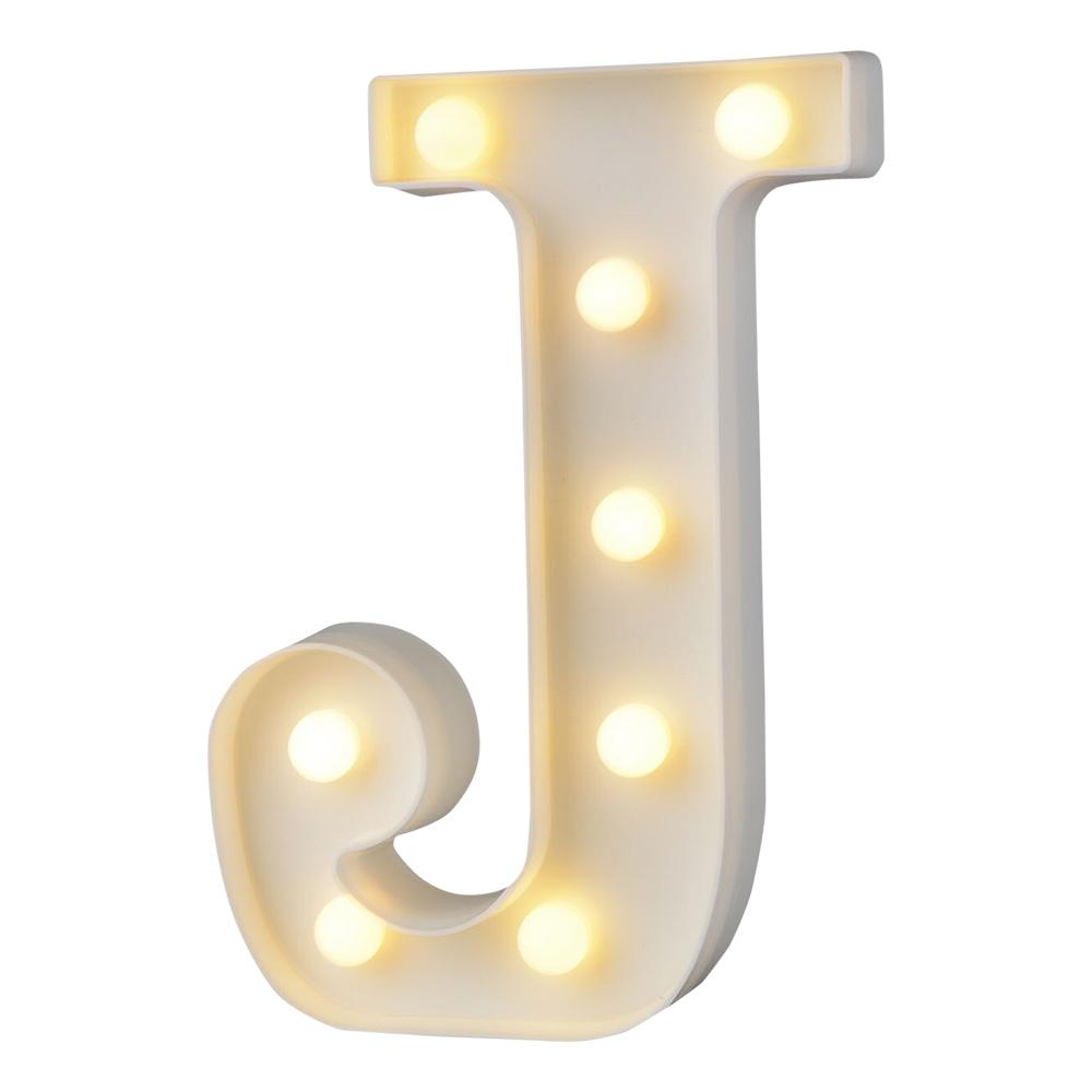 Bokstav med LED-Belysning - Bokstav J