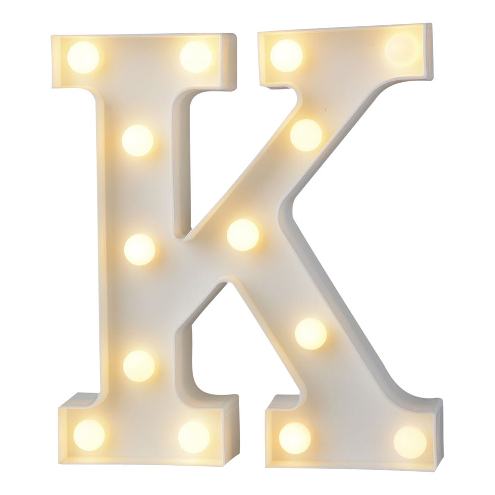 Bokstav med LED-Belysning - Bokstav K