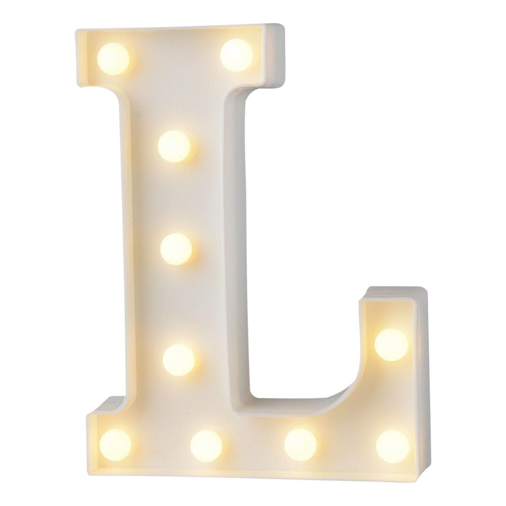 Bokstav med LED-Belysning - Bokstav L