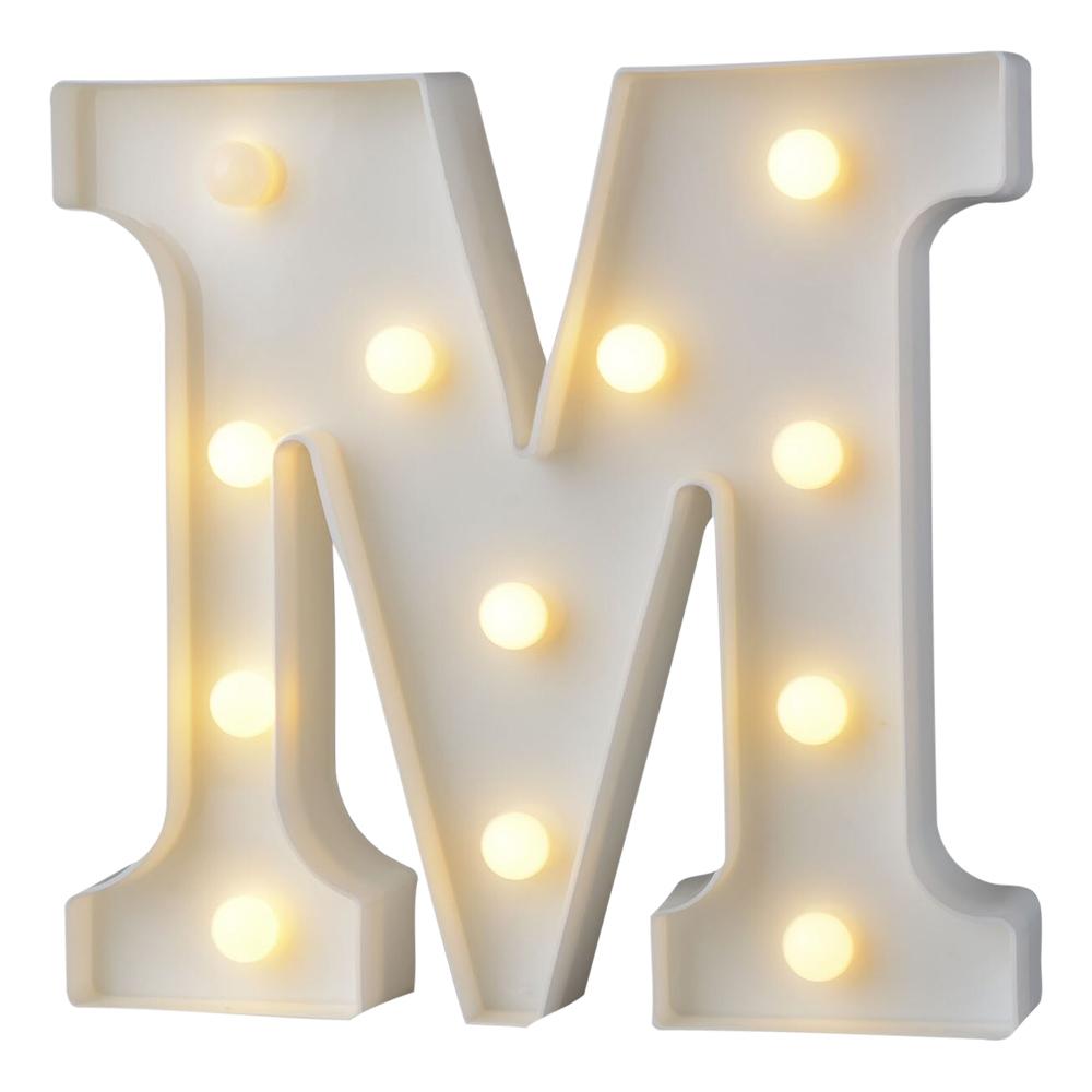 Bokstav med LED-Belysning - Bokstav M