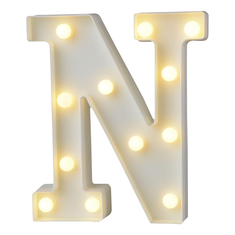 Bokstav med LED-Belysning - Bokstav N