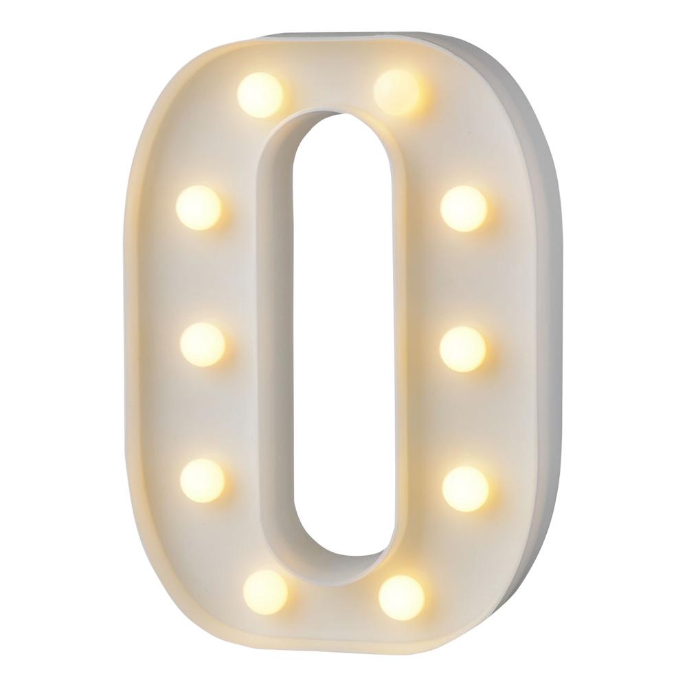 Bokstav med LED-Belysning - Bokstav O