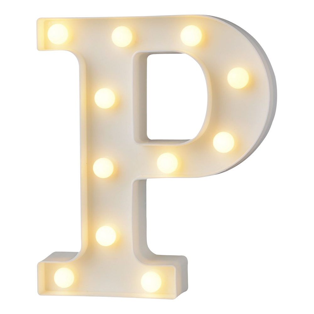 Bokstav med LED-Belysning - Bokstav P