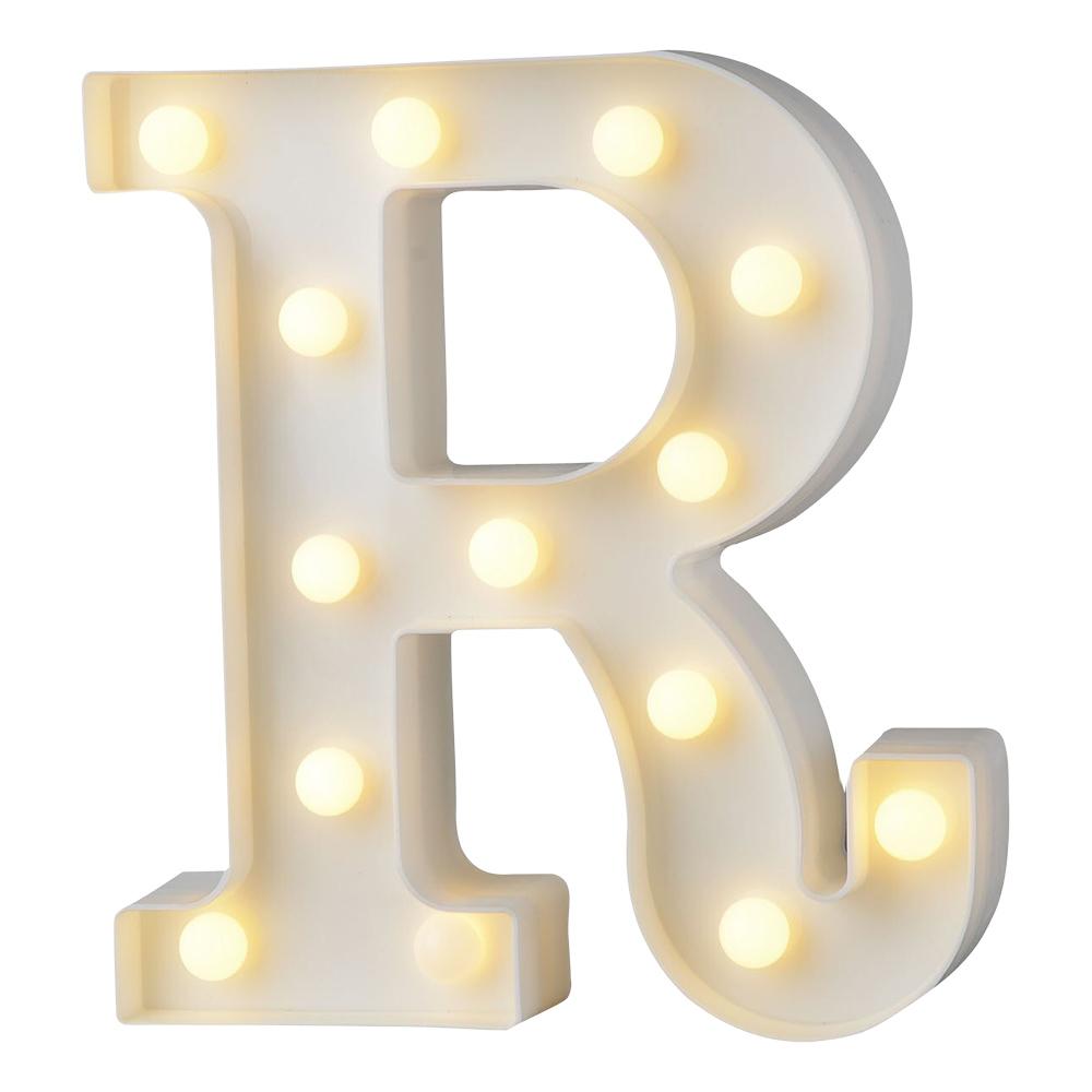 Bokstav med LED-Belysning - Bokstav R