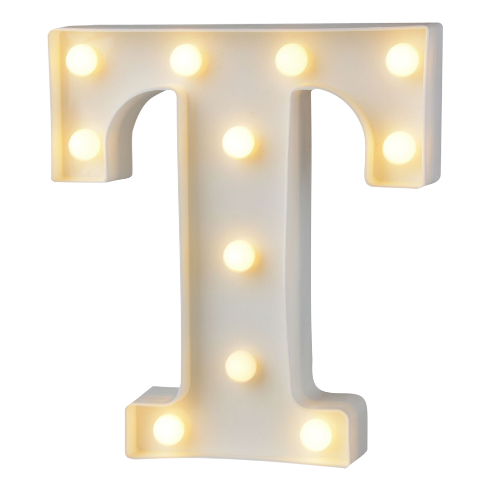 Bokstav med LED-Belysning - Bokstav T