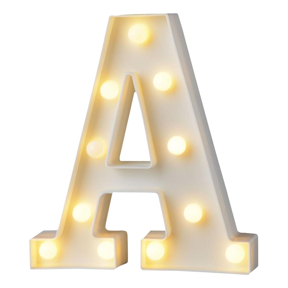 Bokstav med LED-Belysning - Bokstav A