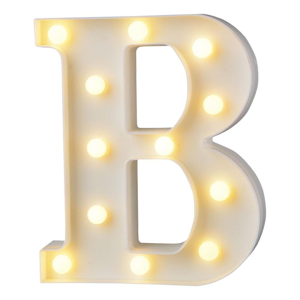 Bokstav med LED-Belysning - Bokstav B