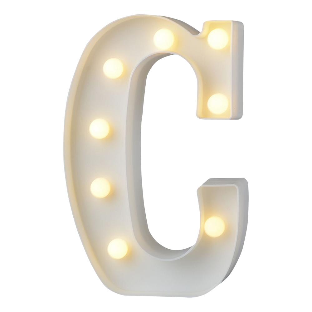 Bokstav med LED-Belysning - Bokstav C