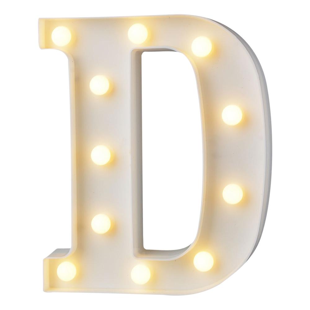 Bokstav med LED-Belysning - Bokstav D