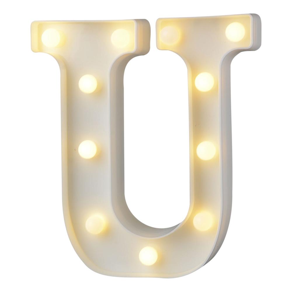 Bokstav med LED-Belysning - Bokstav U
