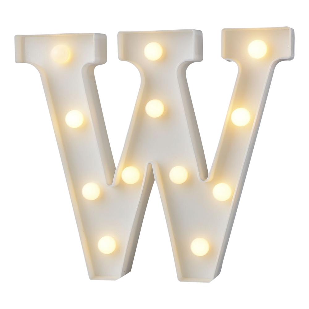 Bokstav med LED-Belysning - Bokstav W