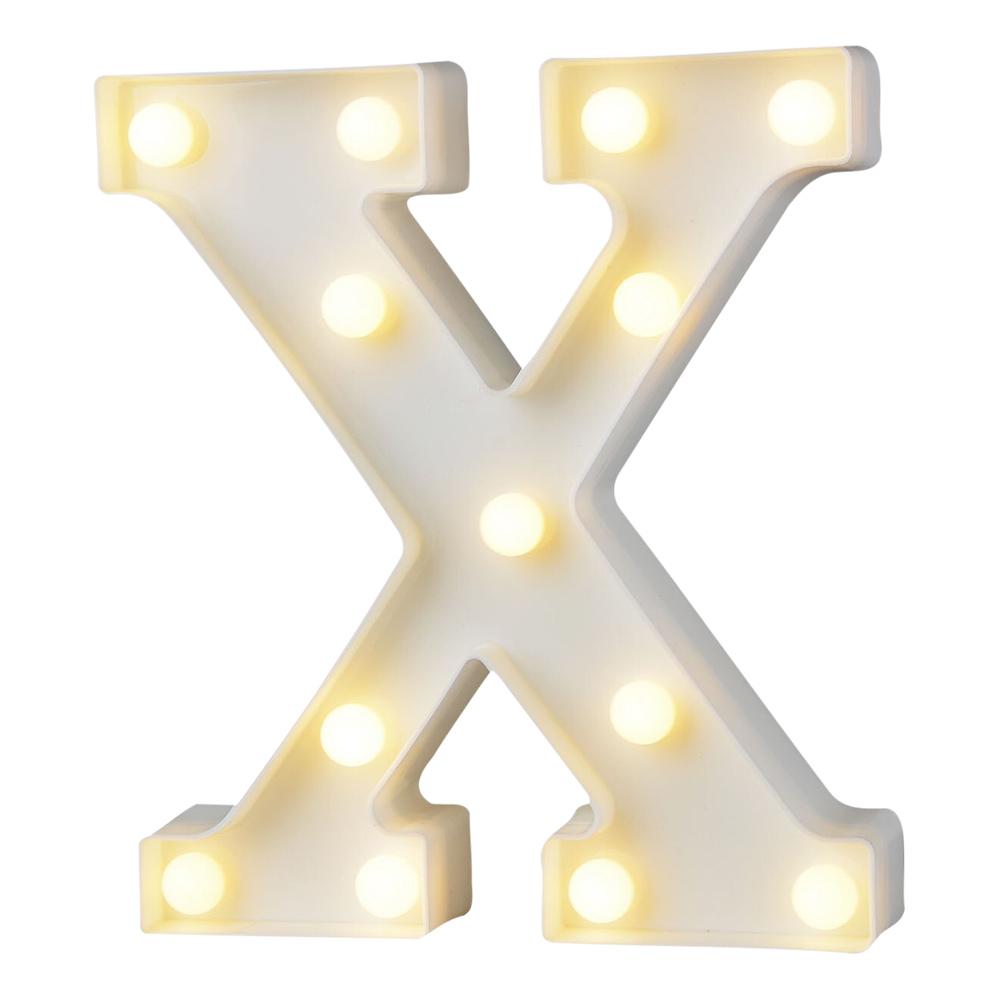 Bokstav med LED-Belysning - Bokstav X