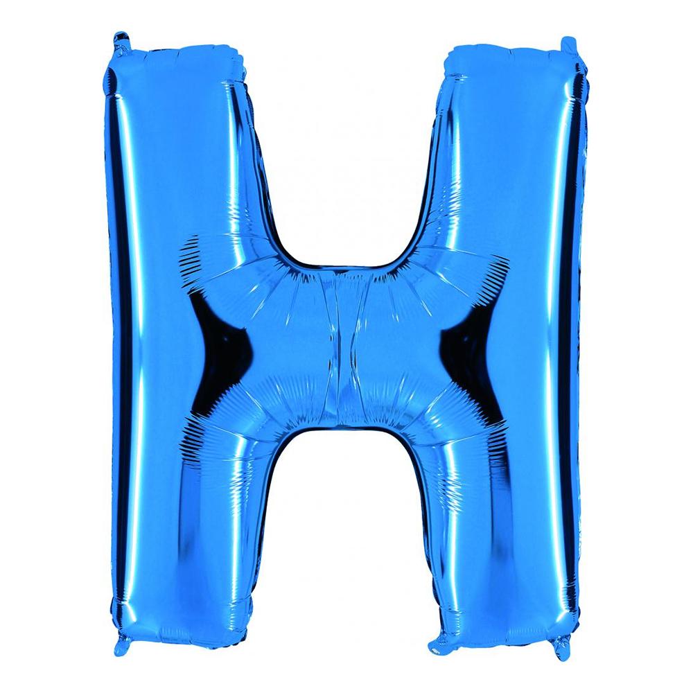 Bokstavsballong Blå Metallic - Bokstav H