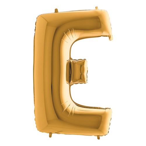 Bokstavsballong Guld - Bokstav E