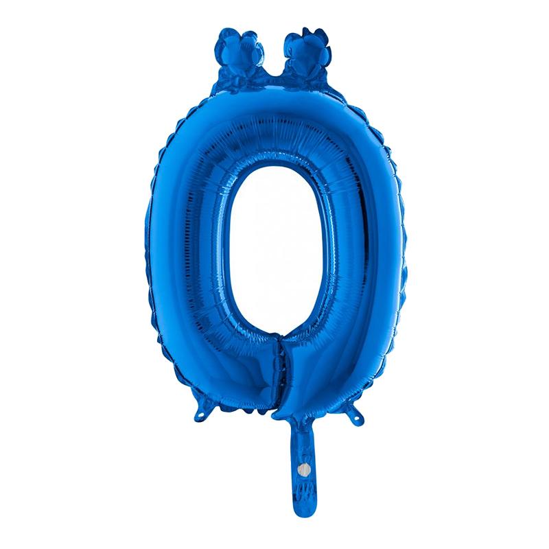 Bokstavsballong Mini Blå Metallic - Bokstav Ö