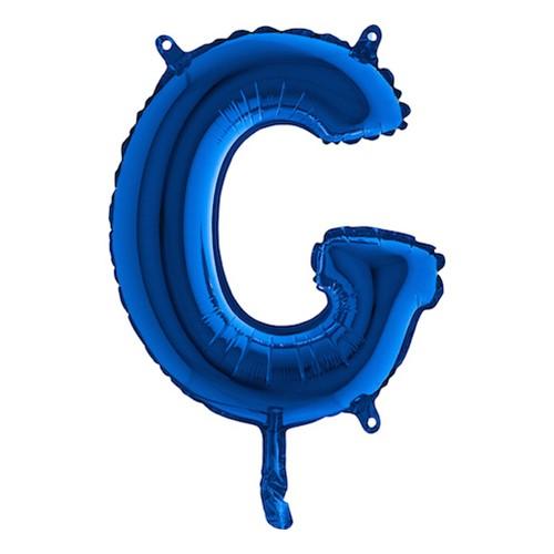 Bokstavsballong Mini Blå Metallic - Bokstav G