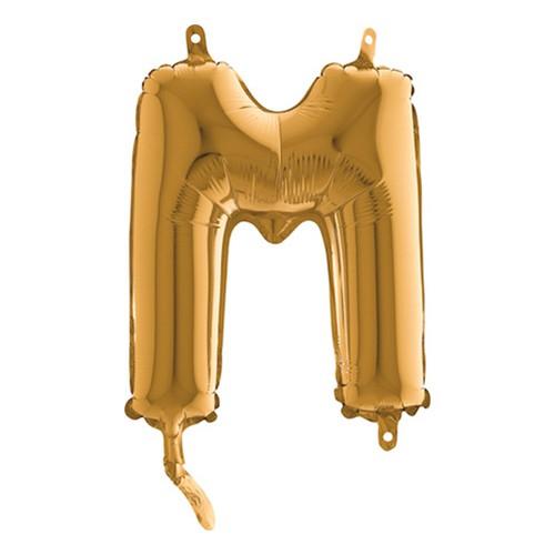 Bokstavsballong Mini Guld - Bokstav M