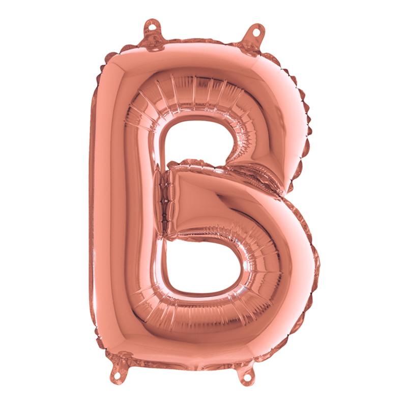 Bokstavsballong Mini Roséguld - Bokstav B