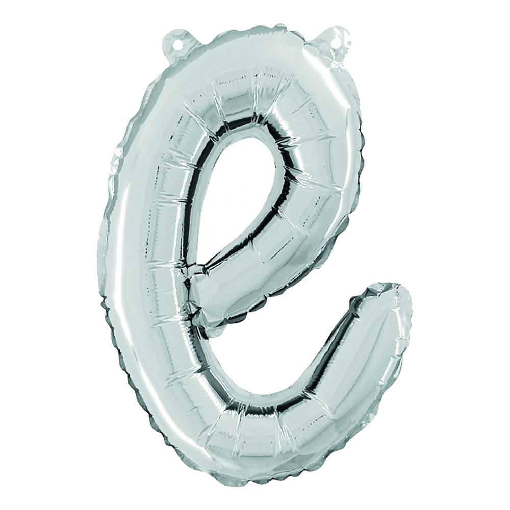 Bokstavsballong Script Silver - Bokstav E
