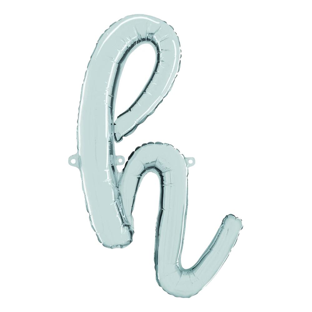 Bokstavsballong Script Silver - Bokstav H