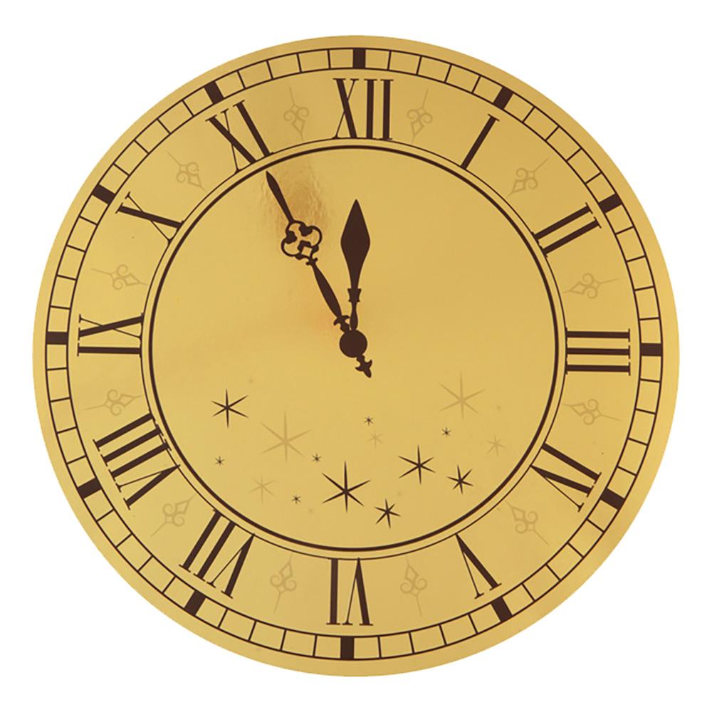 Bordsdekoration Nyårsklocka Guld/Svart