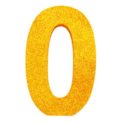 Bordsdekoration Siffra Guld - Siffra 0