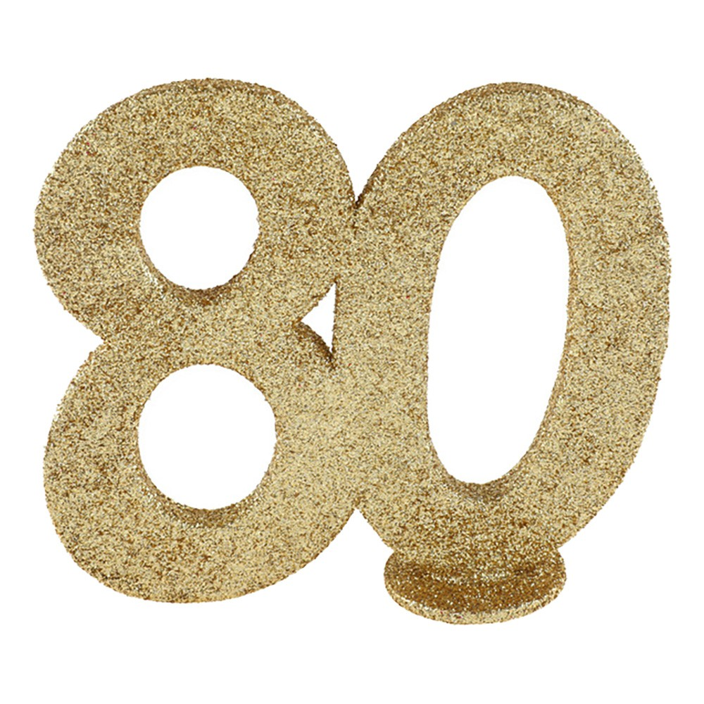 Bordsdekoration Siffra Guld/Glitter - Siffra 80