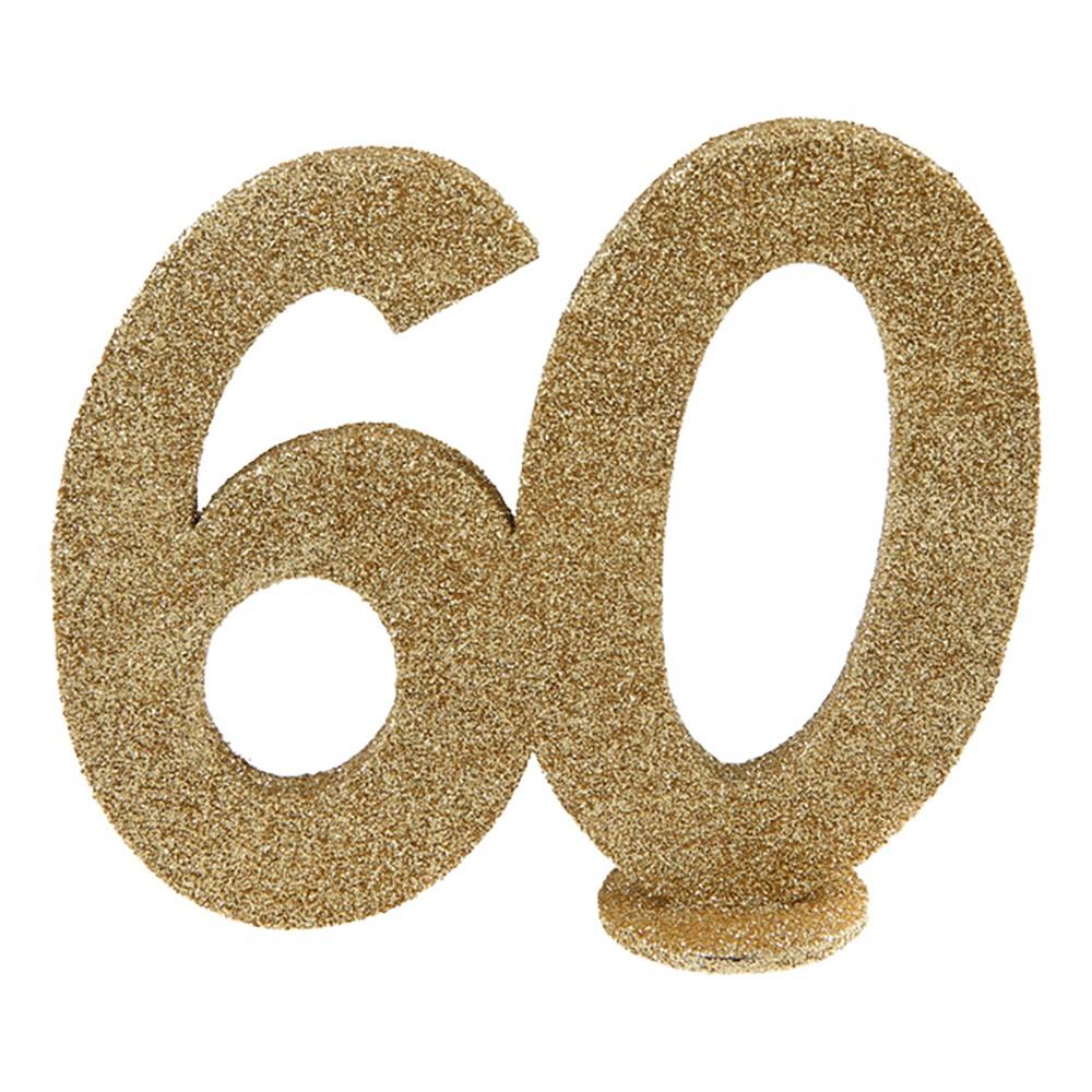 Bordsdekoration Siffra Guld/Glitter - Siffra 60 |  | Partyoutlet