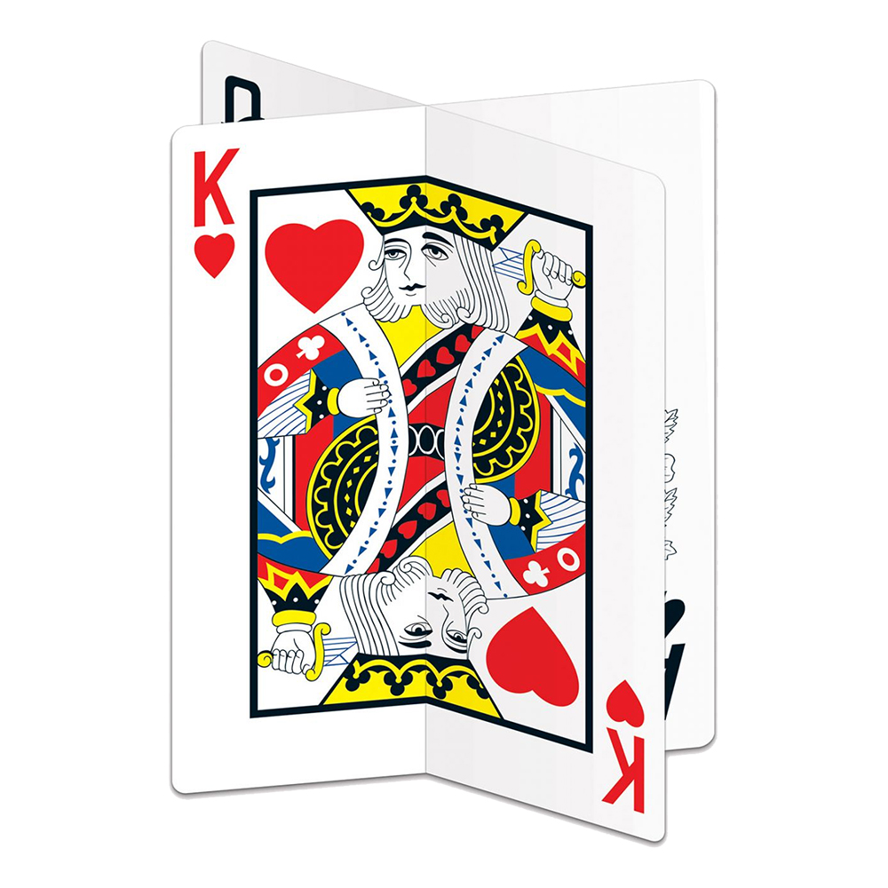 Bordsdekoration Spelkort