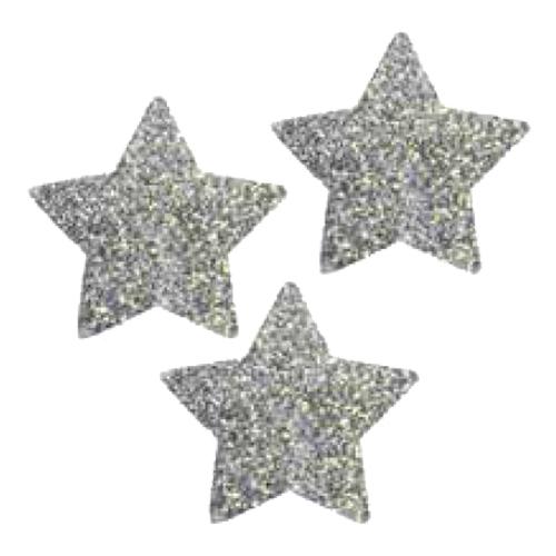 Bordsdekorationer Stjärnor Silver Glitter - 30st