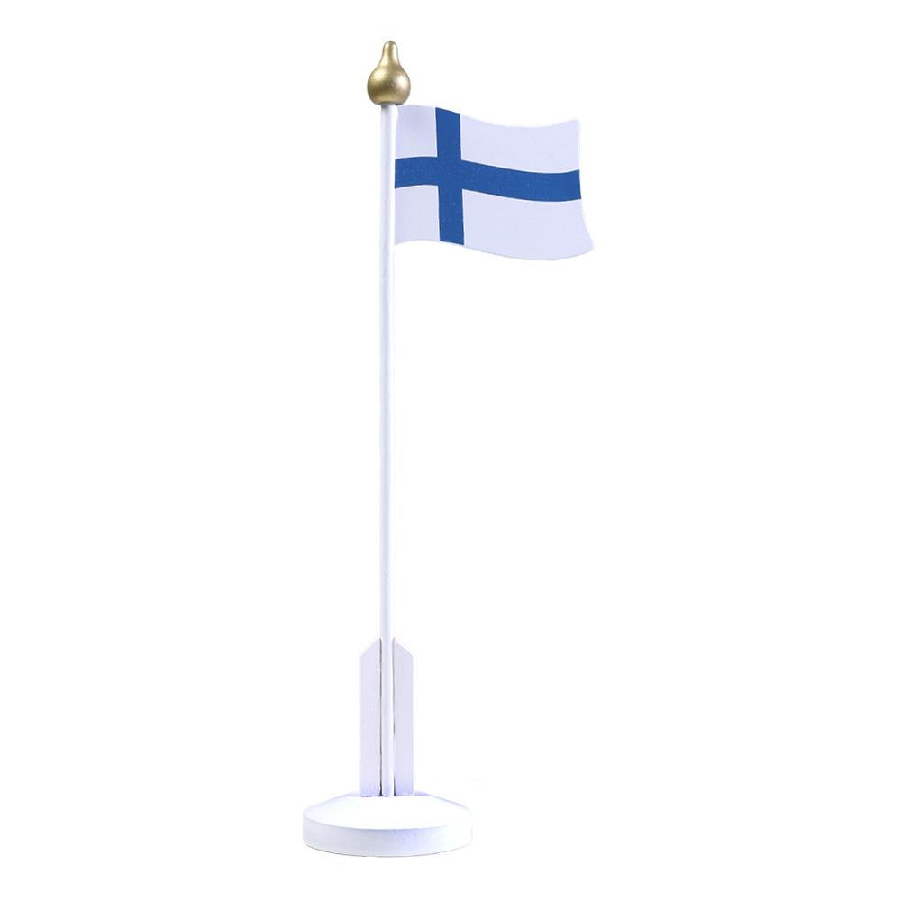 Bordsflagga Finland i Trä