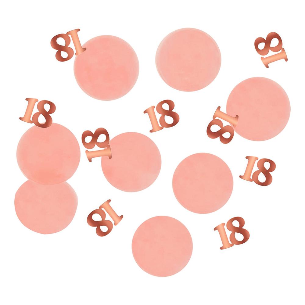 Bordskonfetti Happy 18th Lush Blush - 25 gram