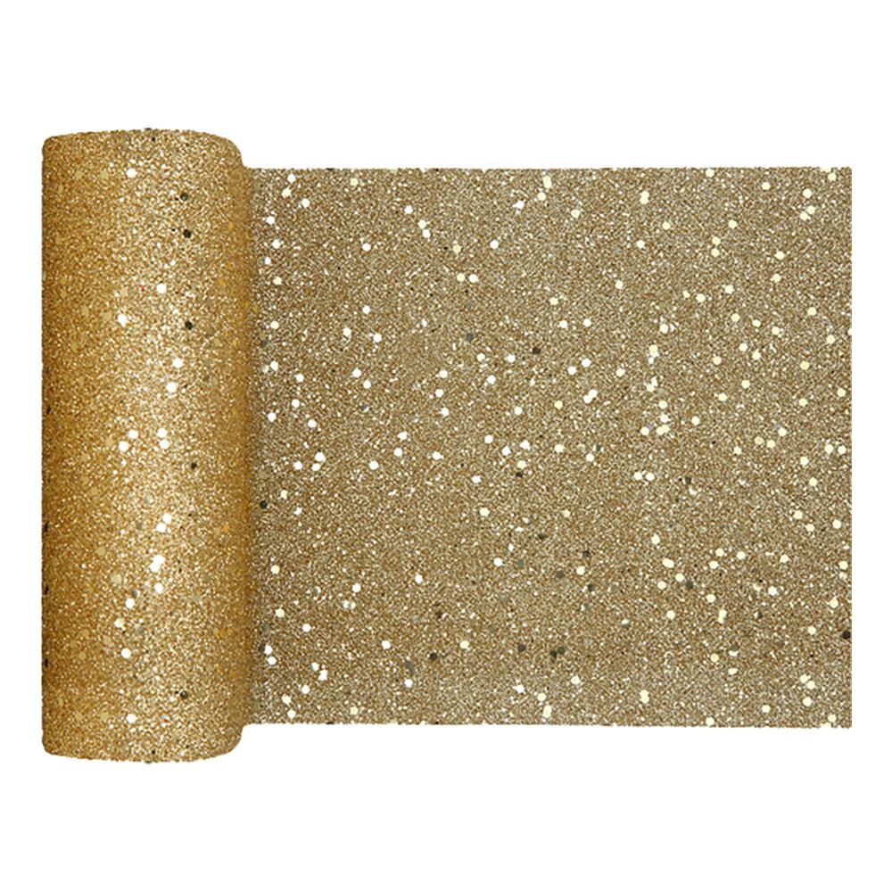 Bordslöpare Tjock Guld Glitter