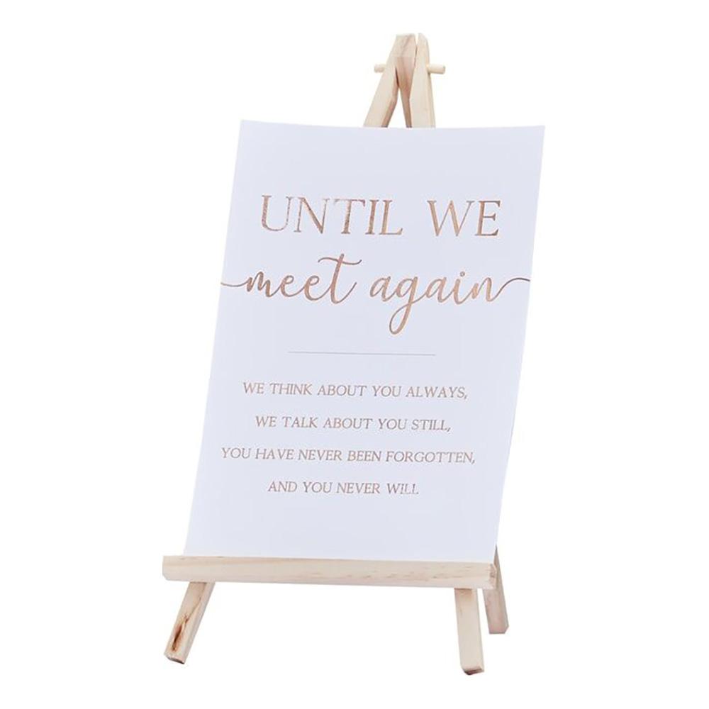 Bordsskylt Wedding Memories - 1-pack