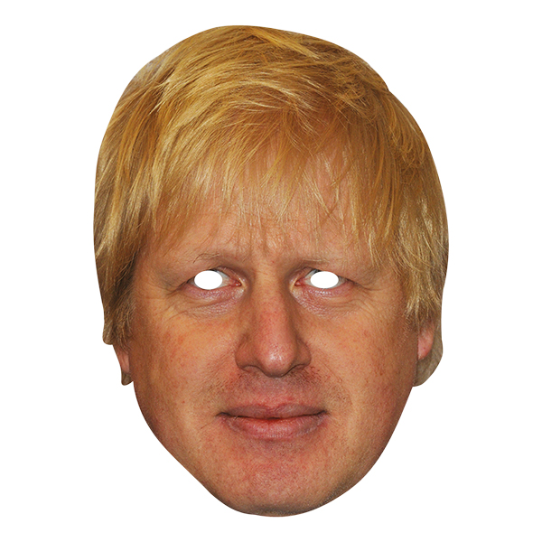 Boris Johnson Pappmask