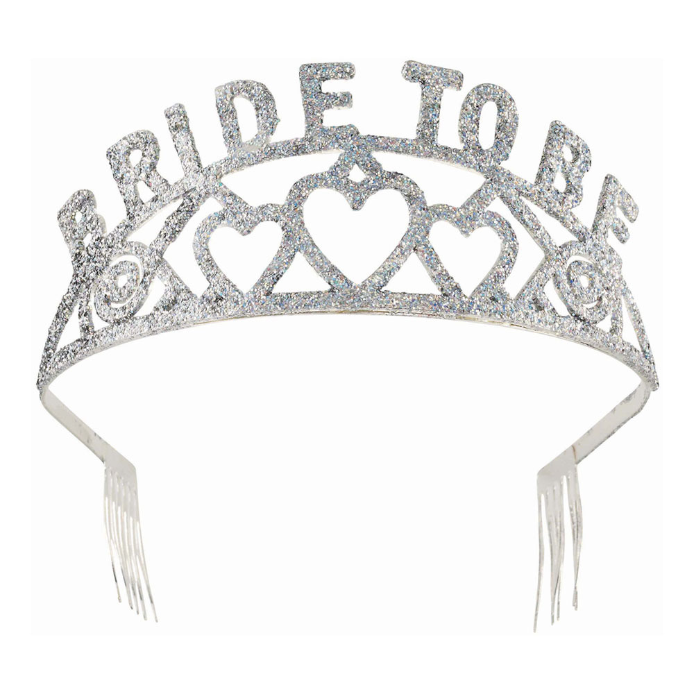 Bride To Be Tiara Silver/Glitter - One size