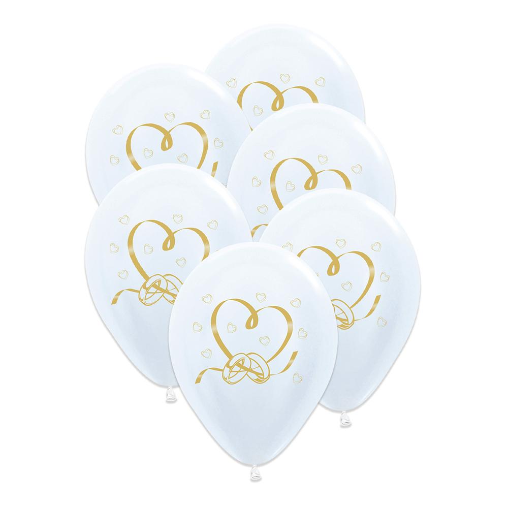 Bröllopsballonger - Bröllop Ballonger - 6-pack